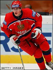 Evgeni Malkin in Russia's national hockey team
